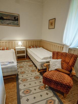 Paradiesvilla Schlafzimmer mit 2 Einzelbetten