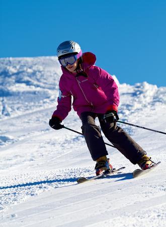 Skifahren Kind
