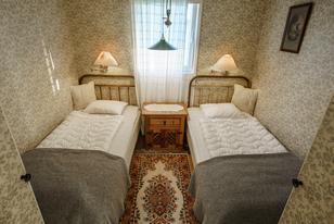 Himmelbungalow Schlafzimmer mir zwei Einzelbetten