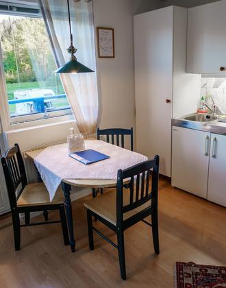 Serviceapartment mit Kitchenette und Esstisch