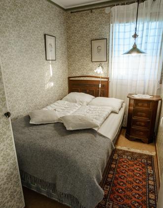Himmelbungalow Schlafzimmer mit Doppelbett