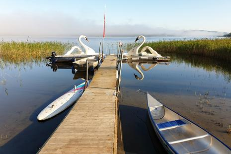 Bootsfahren am Asundensee