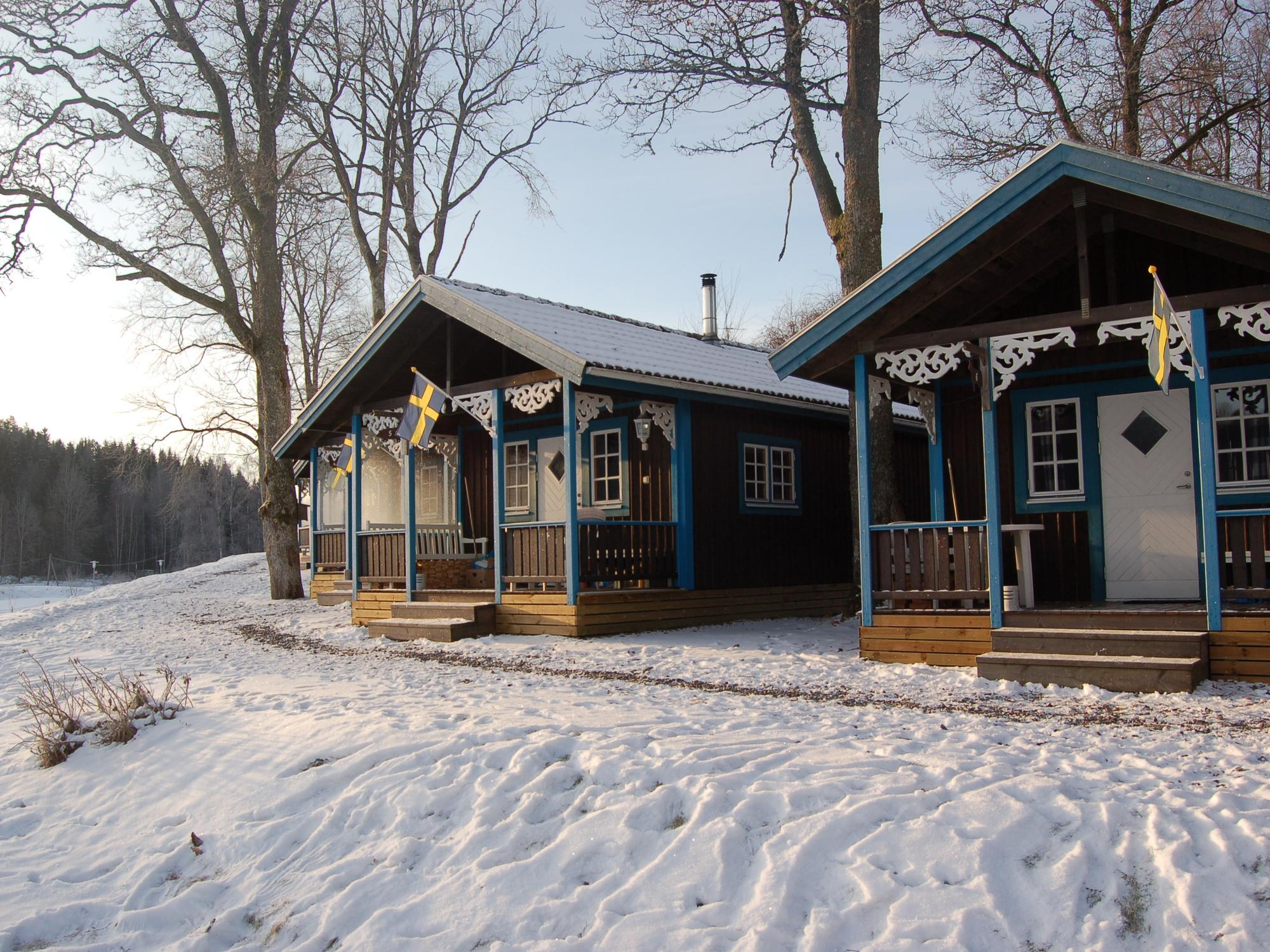 Seebungalow im Winter