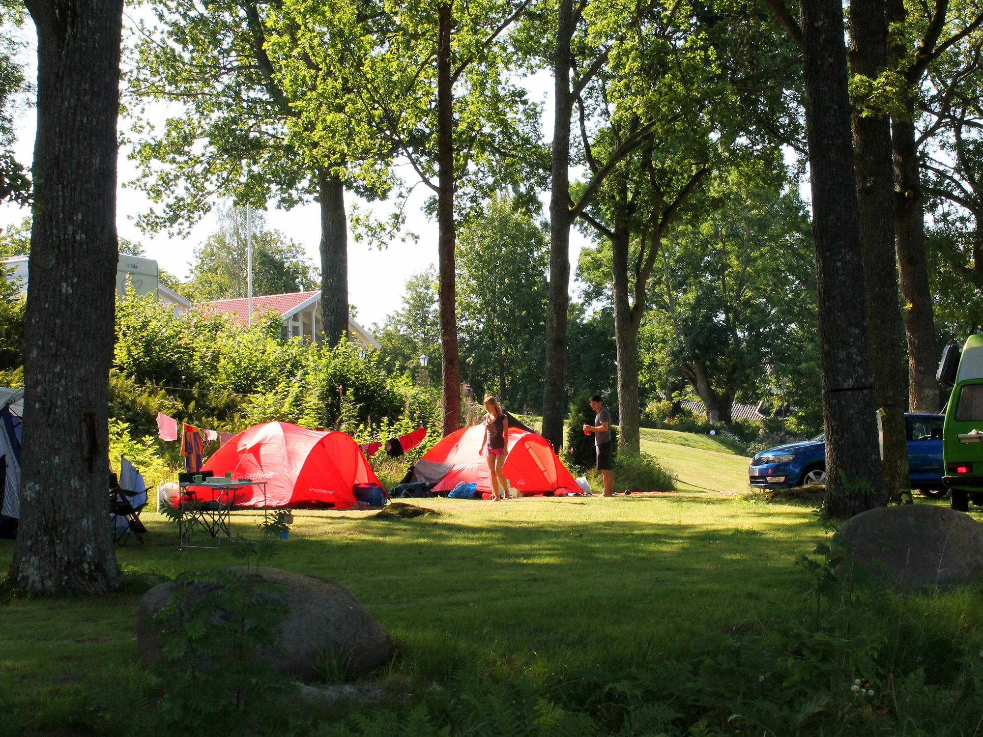 Camping auf der Zeltwiese - Skotteksgarden